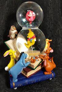 Disney Winnie the Pooh Snow Globe Musical Eeyore Piglet Owl Kanga Roo Rabbit