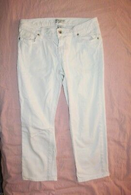 Off White Pocket - Off-White Capri jeans 5 pocket Banana Republic Women's 8 Waist 30 Length 31