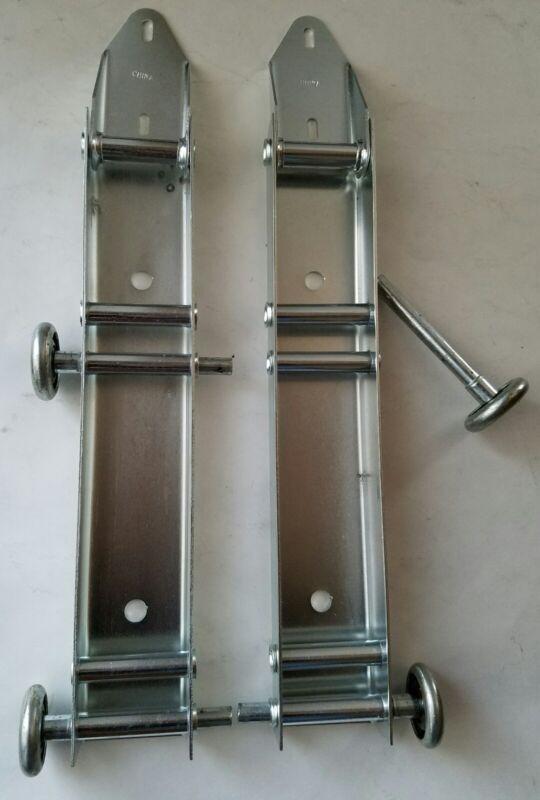 New Garage Door Low Headroom Quick Turn Brackets with Steel Rollers - Pair