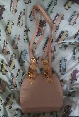 VINTAGE GIANNI VERSACE COUTURE peach nude pink art deco floral bag handbag