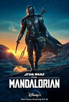 The Mandalorian Season 2 TV Poster (24x36) - Pedro Pascal, Grogu, Baby Yoda v1