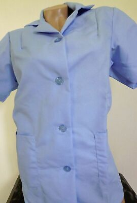 Best Medical S/S Smock 2 Bottom Pockets Tunic Scrub Top Blue Sizes 2X to 5X