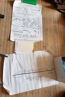 1990 Cleveland Ohio Kirtland Park Schematic Chevetle Design Plan Map Poster Set