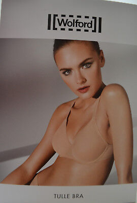 WOLFORD Tulle Bra 85 B sugar coral Tüll Sommer Summer