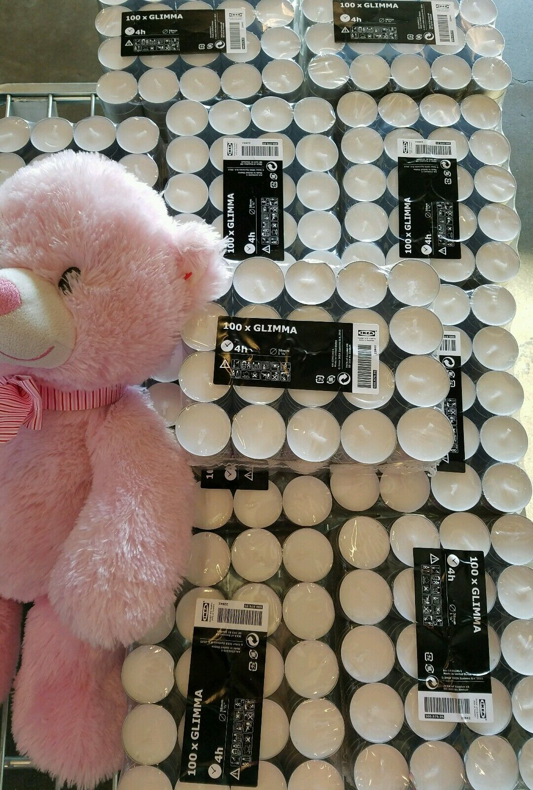 Lots of 40/60/100/200 IKEA unscented tealight candles