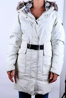 Womens North Face Buckle Goose Down Long Ski Winter Jacket/Coat (M)