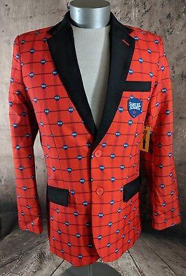 Elf Suits (TIPSY ELVES Unique Samuel Adams Boston Beer Jacket Blazer Party Frat Brew Sz)