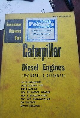 Caterpillar Cat 4-12 Bore Cylinder Diesel Engine Service Reference Manual