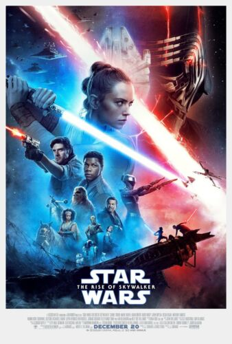 """Star Wars IX: Rise of the Skywalker Movie Poster red blue 24"""" x 36"""" or  27""""x 40"""""""