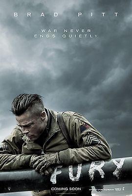 Fury  2014  Movie Poster  24X36    Brad Pitt  Shia Labeouf  Logan Lerman New V2