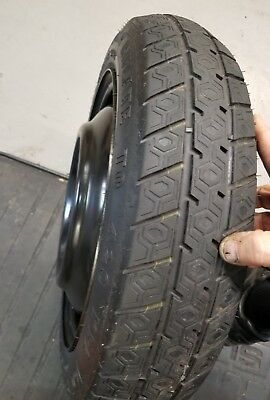 93  02 01 Geo Prizm Spare Tire And Wheel T125 70D 14 Donut W Hold Down