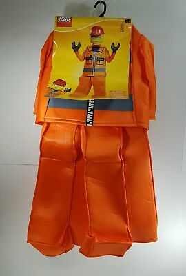 Halloween Costume Lego Boys Size S 4-6 Construction Worker Fantasy Dress Up GK