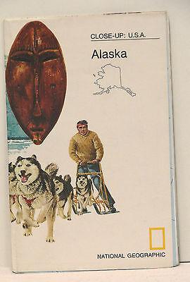 Vintage 1975 National Geographic Map Alaska