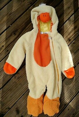 Fuzzy Fluffy Baby Duck Halloween Costume Infant Toddler Footed Hooded - Baby Duck Kostüm Halloween
