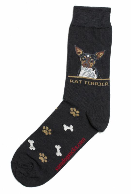 Rat Terrier Dog Socks Mens