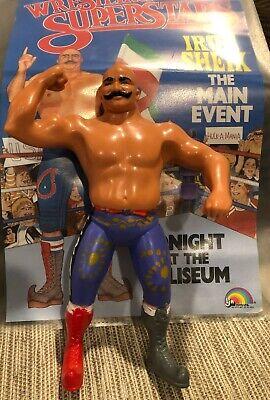 WWF LJN Iron Sheik Titan Sports 1984 Vintage Wrestling Figure WWE w/ poster