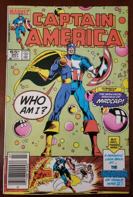 Captain America #307 - 1st appearance of Madcap! Key issue comic! VG+