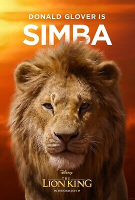 The Lion King 2019 Movie Poster  - Simba, Donald Glover v2