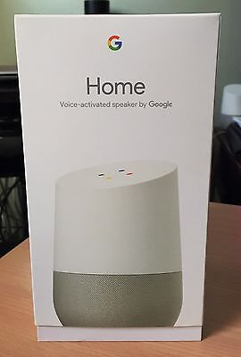 Google Home Voice Activated Assistant Speaker Streamer   White Slate   Brand New