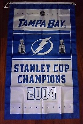Tampa Bay Lightning Stanley Cup Champions Flag 3Ft X 5Ft Polyester Nhl Banner
