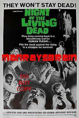 "GEORGE A. ROMERO Signed Autograph Reprint 13x19"" Photo  NIGHT OF THE LIVING DEAD"