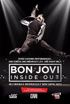 Bon Jovi  Inside Out  Small Movie Poster   Jon Jumping In The Air
