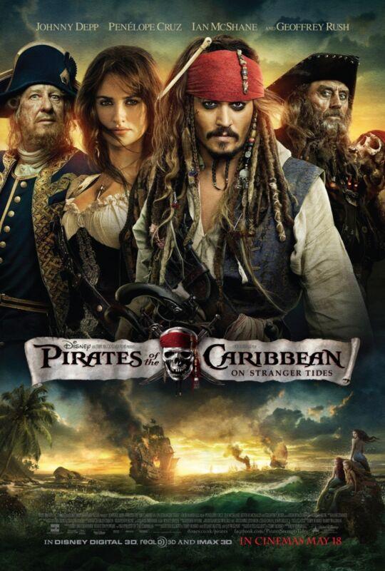 Pirates Of The Caribbean movie poster : On Stranger Tides, Johnny Depp poster