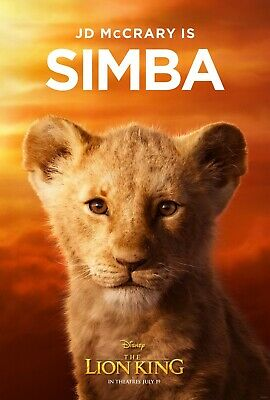 The Lion King 2019 Movie Poster  - Simba, Donald Glover, JD