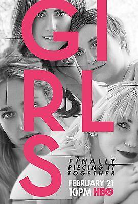 Girls Season 5 Tv Poster  24X36    Lena Dunham  Allison Williams  Jemima Kirke