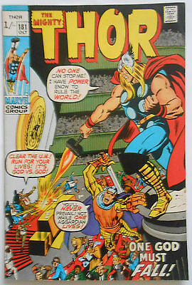 THOR #181 - OCT 1970 - NEAL ADAMS ART - RARE! - VFN (8.0) PENCE COPY!!