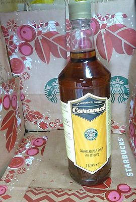 Ungovernable* Xmas* Gift ! STARBUCKS *CARAMEL FLAVOR SYRUP 1 LTR FOR COFFEE*