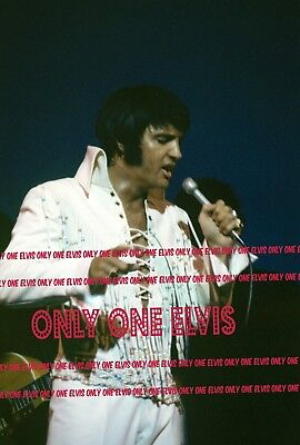 ELVIS PRESLEY in CONCERT 1970 4x6 Photo LIVE in LAS VEGAS