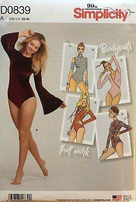 Simplicity 8513/DO839 Misses Knit Bodysuits   Sizes: XS - XL  New Release!