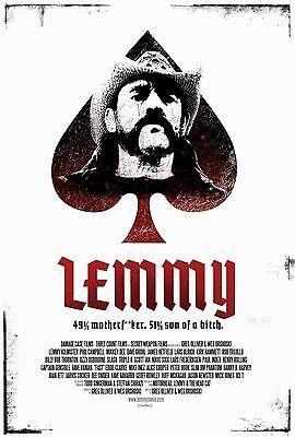 LEMMY KILMISTER MOTORHEAD ROCKUMENTARY MOVIE RARE POSTER