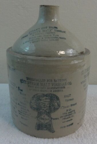 Antique Stoneware Advertising Jug Byram