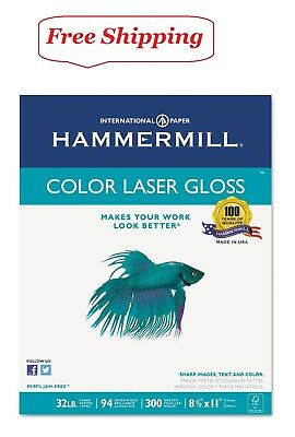 Hammermill - Color Laser Gloss Paper 32lb 94 Bright 8-12 X 11 - 300 Sheets