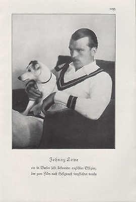 Werbung 1929, Bildnis Portrait Fotografie des englischen Offiziers Johnny Lowe