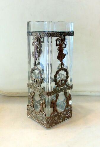 Empire Vase Gilded Bronze Decorated Crystal, III.Napoleon Era