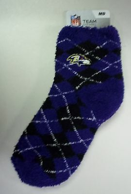 Baltimore Ravens Women's Sleep Soft Socks Medium Size 6 to 11 Argyle Baltimore Ravens Womens Socks