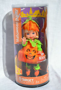 HAPPY HALLOWEEN Nikki as PUMPKIN Kelly doll 2003 Mattel Barbie NRFB
