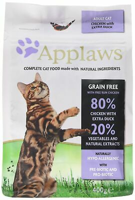 Applaws Complete Natural Dry Cat Food 400g Adult Chicken with Extra Duck