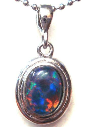 FREE JEWELLERY BOX!!!  Australian Opal Natural Black Triplet Opal Pendant