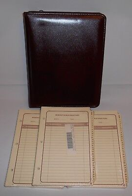 Vintage The Ultimate Leather Burgundy Organizer Planner W 3 Refills New Old Sto