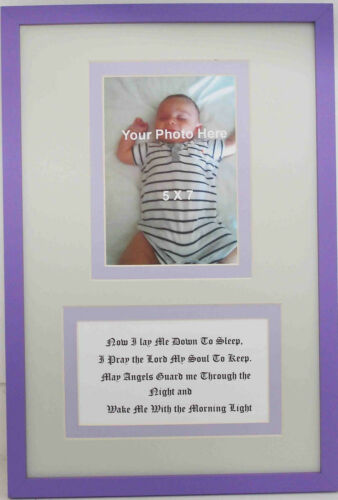 Infant Children Nursery Christian Wall Decor Bedtime prayer with photo opening