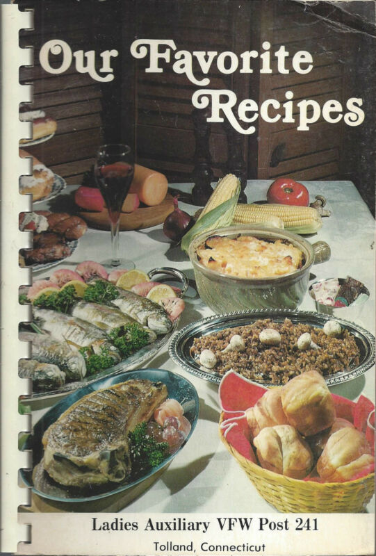 *TOLLAND CT 1983 VFW LADIES AUXILIARY COOK BOOK *LOCAL ADS *CONNECTICUT RECIPES