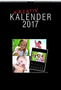 FOTOKALENDER 20x30 BASTELKALENDER KREATIVKALENDER 2017 DIN A4 Fotos bis 13x18