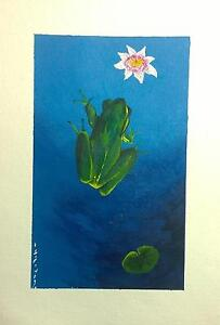 Frog and Lotus Flower Painting Greenslopes Brisbane South West Preview