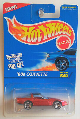 HOT WHEELS '80S CORVETTE  - COLLECTOR # 503 - METALLIC RED WITH BLACK TOP