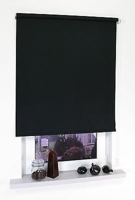 Springrollo oder Seitenzugrollo, Maßanfertigung für Fenster und Türen in schwarz