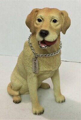 "Labrador Retriever Yellow Lab MY DOG Figurine Statue 1995 Resin 6"" MINT #20H"